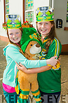 Michaela McAdams and Molly O'Neill, pupils at Blennerville National School wearing Kerry's Eye All Ireland hats.