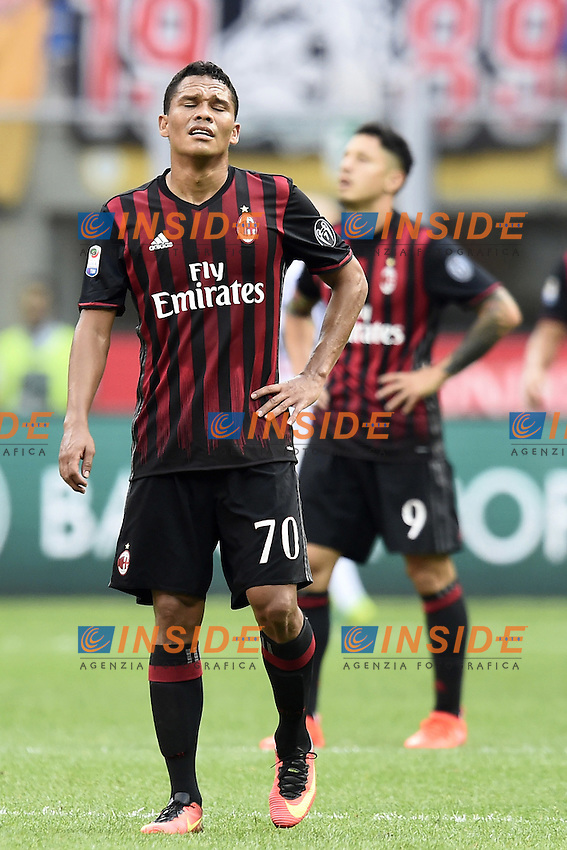delusione Carlos Bacca dejection milan<br /> Milano 11-09-2016 Stadio Giuseppe MeazzaFootball Calcio Serie A 2016/2017 Milan-Udinese. Foto Daniele Buffa / Image Sport / Insidefoto