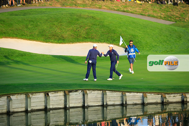 // at the Ryder Cup, Le Golf National, Paris, France. 28/09/2018.<br /> Picture Phil Inglis / Golffile.ie<br /> <br /> All photo usage must carry mandatory copyright credit (© Golffile | Phil Inglis)