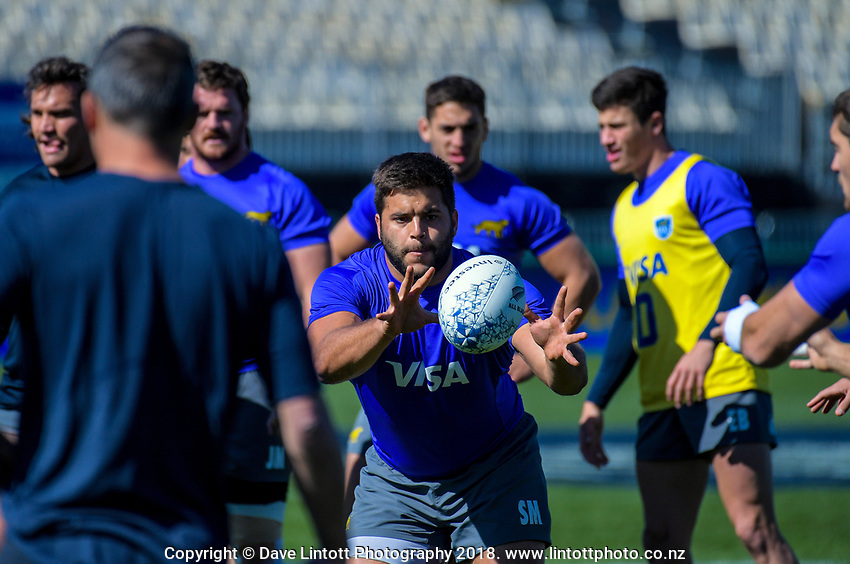 The Rugby Championship Argentina Pumas captain's run at Trafalgar Park in Nelson, New Zealand on Friday, 7 September 2018. Photo: Dave Lintott / lintottphoto.co.nz