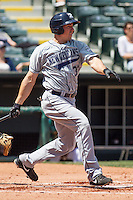 New Orleans Zephyrs left fielder Brian Bogusevic (30) at bat during the Pacific League game at the Chickasaw Bricktown Ballpark against the Oklahoma City RedHawks on April 13, 2014 in Oklahoma City, Oklahoma.  The RedHawks defeated the Zephyrs 4-3.  (William Purnell/Four Seam Images)