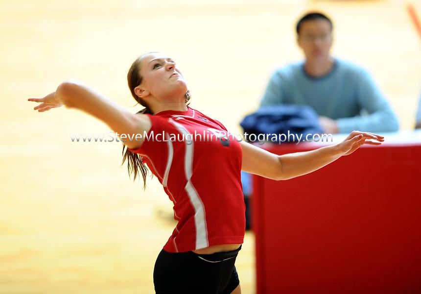 Wesleyan University volleyball vs. Bowdoin College, 10/1/2010.