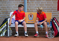 08-08-13, Netherlands, Rotterdam,  TV Victoria, Tennis, NJK 2013, National Junior Tennis Championships 2013,  Doubles,  Daan Hendriks/Jens Hoogendam boys doubles<br /> <br /> <br /> Photo: Henk Koster