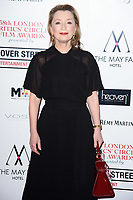 Lesley Manville<br /> arriving for the Critic's Circle Film Awards 2018, Mayfair Hotel, London<br /> <br /> <br /> ©Ash Knotek  D3374  28/01/2018