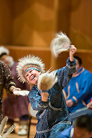 Chevak dancers at the Festival of Native Arts, a three day festival celebrating the culture and heritage of Alaska native peoples from around the state.