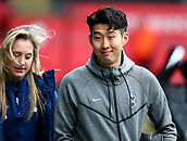 17th March 2018, Liberty Stadium, Swansea, Wales; FA Cup football, quarter-final, Swansea City versus Tottenham Hotspur; Son Heung-Min of Tottenham Hotspur arrives ahead of the game