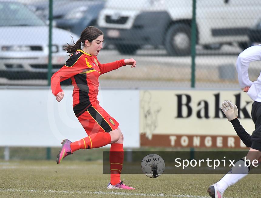 Belgie U17 - Duitsland U17 : Noemie Gelders.foto DAVID CATRY / Vrouwenteam.be