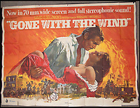 BNPS.co.uk (01202 558833)<br /> Pic: Burstow&amp;Hewett/BNPS<br /> <br /> Gone With the Wind film poster starring Clark Gable and Vivien Leigh.<br /> <br /> A late film buff's collection of 400 vintage movie posters has emerged for auction and is tipped to sell for &pound;15,000.<br /> <br /> The collection was amassed by a man who worked for several decades at the Marble Arch Odeon cinema in London which in its heyday was one of the capital's flagship cinemas.<br /> <br /> He sadly died a couple of years ago but bestowed the posters - which once were on display in the cinema - to a life-long friend who has decided to put them on the market.<br /> <br /> Many of the posters are from classic film franchises including Star Wars and James Bond as well as iconic Disney films such as Snow White and the Seven Dwarfs and Cinderella.