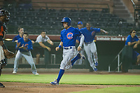 AZL Cubs center fielder Jose Gutierrez (91) hustles towards home plate during Game Three of the Arizona League Championship Series against the AZL Giants on September 7, 2017 at Scottsdale Stadium in Scottsdale, Arizona. AZL Cubs defeated the AZL Giants 13-3 to win the series two games to one. (Zachary Lucy/Four Seam Images)