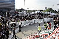Milan Presentazione Ufficiale della squadra ai tifosi. Official presentation of AC Milan Football Calcio 2015/2015 Milano 10-09-2015 - Milan presentazione ufficiale <br /> della squadra ai tifosi / foto Daniele Buffa/Image Sport<br /> nella foto: striscione tifosi Milan