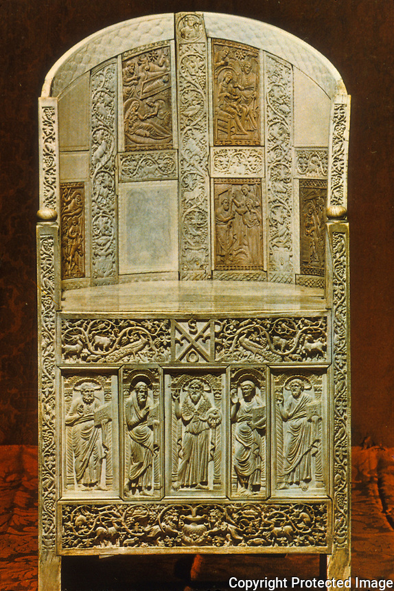 Ravenna: Museo Arcivescovile--Ivory Chair of Bishop Maximian.