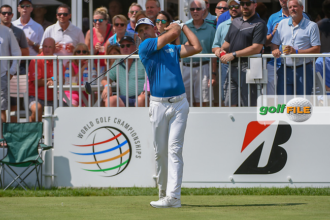 Charl Schwartzel (RSA) watches his tee shot on 14 during 2nd round of the World Golf Championships - Bridgestone Invitational, at the Firestone Country Club, Akron, Ohio. 8/3/2018.<br /> Picture: Golffile   Ken Murray<br /> <br /> <br /> All photo usage must carry mandatory copyright credit (© Golffile   Ken Murray)
