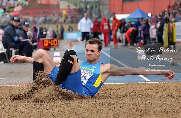 Viktor Kuznyetsov (UKR). Mens Triple Jump.  Day 2. European Team Athletics Championships. Gateshead. Tyne and Wear. UK. 23/06/2013. <br />  MANDATORY Credit Garry Bowden/SIPPA - NO UNAUTHORISED USE - 07837 394578