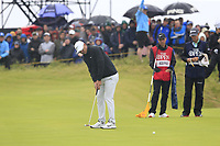 Brooks Koepka (USA) putts on the 6th green during Sunday's Final Round of the 148th Open Championship, Royal Portrush Golf Club, Portrush, County Antrim, Northern Ireland. 21/07/2019.<br /> Picture Eoin Clarke / Golffile.ie<br /> <br /> All photo usage must carry mandatory copyright credit (© Golffile | Eoin Clarke)