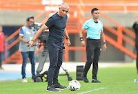 ENVIGADO - COLOMBIA, 08-03-2020: Jose Arastey técnico de Envigado gesticula durante partido por la fecha 8 de la Liga BetPlay DIMAYOR I 2020 entre Envigado F.C. y Rionegro Águilas jugado en el estadio Alfonso López de la ciudad de Envigado. / Jose Arastey coach of Envigado gestures during match for the date 8 of the BetPlay DIMAYOR League I 2020 between Envigado F.C. and Rionegro Aguilas played at Polideportivo Sur stadium of Envigado city.  Photo: VizzorImage / Leon Monsalve / Cont