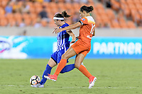 Houston, TX - Saturday July 22, 2017: Tiffany Weimer and Carli Lloyd during a regular season National Women's Soccer League (NWSL) match between the Houston Dash and the Boston Breakers at BBVA Compass Stadium.