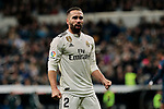 Real Madrid's Dani Carvajal celebrates goal during La Liga match between Real Madrid and Valencia CF at Santiago Bernabeu Stadium in Madrid, Spain. December 01, 2018. (ALTERPHOTOS/A. Perez Meca)