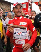 Joaquin Purito Rodriguez with a cigar during the stage of La Vuelta 2012 between Lleida-Lerida and Collado de la Gallina (Andorra).August 25,2012. (ALTERPHOTOS/Paola Otero) /NortePhoto.com<br /> <br /> **CREDITO*OBLIGATORIO** <br /> *No*Venta*A*Terceros*<br /> *No*Sale*So*third*<br /> *** No*Se*Permite*Hacer*Archivo**<br /> *No*Sale*So*third*