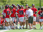 Palos Verdes, CA 03/26/16 - San Clemente team during a huddle with Coach Reppert discussing strategy.