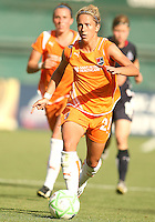 Kacey White #20 of Sky Blue FC races forward during a WPS match against the Washington Freedom at RFK Stadium on May 23, 2009 in Washington D.C. Freedom won the match 2-1