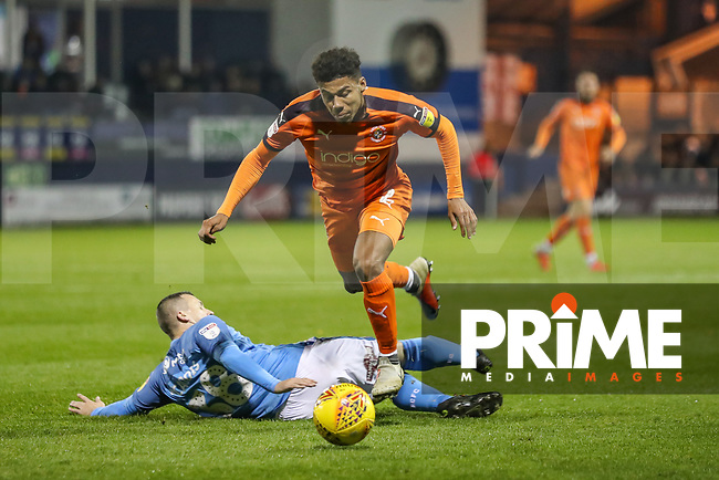 James Justin of Luton Town during the Sky Bet League 1 match between Luton Town and Bradford City at Kenilworth Road, Luton, England on 27 November 2018. Photo by David Horn.