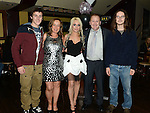 Shauna Synnott celebrating her 21st birthday in The Venue at McHugh's with parents Robert and Geraldine and brothers Shane and Lee. Photo:Colin Bell/pressphotos.ie