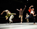 Ipswich, UK. 15.02.2014. Luca Silvestrini's PROTEIN present BORDER TALES at Dance East, Jerwood DanceHouse. Picture shows:  Eryck Brahmania, Femi Oyewole, Stuart Waters, Stephen Moynihan, Kenny Wing Tao Ho. Photograph © Jane Hobson.