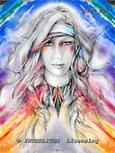 Marie, MODERN, MODERNO, paintings+++++WsIndian2A,USJO217,#N# Joan Marie woman