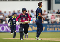 Northants Steelbacks' Rob Newton takes a run as Durham's bowler Matt Dixon looks on <br /> <br /> Photographer Andrew Kearns/CameraSport<br /> <br /> Royal London One Day Cup - Northamptonshire v Durham - Sunday 27th May 2018 - The County Ground, Northampton<br /> <br /> World Copyright &copy; 2018 CameraSport. All rights reserved. 43 Linden Ave. Countesthorpe. Leicester. England. LE8 5PG - Tel: +44 (0) 116 277 4147 - admin@camerasport.com - www.camerasport.com
