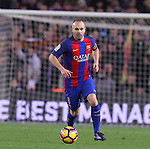 18.12.2016 Andres Iniesta in action during game between FC Barcelona against RCD Espanyol at Camp Nou. La liga day 16