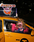 Lucy The Slut taking the 'Avenue Q' - 15th Anniversary Performance Taxi Cab at New World Stages on July 31, 2018 in New York City.