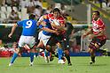(L-R) Edoardo Gori (ITA), Kosuke Endo,  Michael Leitch (JPN), AUGUST 13, 2011, Rugby : International test match between Italy 31-24 Japan at Dino Manuzzi Stadium, Cesena, Italy, (Photo by Enrico Calderoni/AFLO SPORT) [0391]