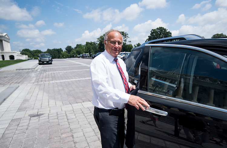 UNITED STATES - JULY 26: Rep. Steve King, R-Iowa, gets in his car after the last vote before the August recess on Thursday, July 26, 2018. (Photo By Bill Clark/CQ Roll Call)