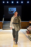 Hand Sewn by David Roil, New Zealand Eco Fashion Exposed Maintain &amp; Sustain at Notre Dame Performing Arts Centre, Lower Hutt, New Zealand on Friday 25 July 2014. <br /> Photo by Masanori Udagawa. <br /> www.photowellington.photoshelter.com.