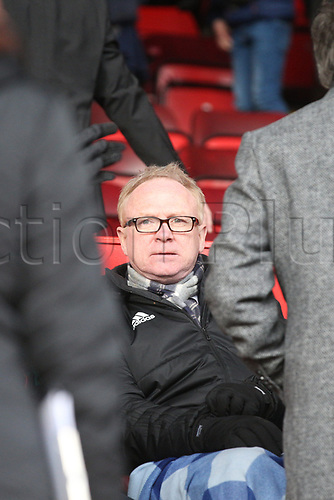 17th March 2018, Pittodrie Stadium, Aberdeen, Scotland; Scottish Premier League football, Aberdeen versus Dundee; Scotland manager Alex McLeish