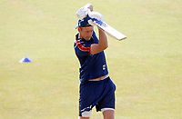 Tom Westley of Essex warms up prior to Essex CCC vs Kent CCC, Bob Willis Trophy Cricket at The Cloudfm County Ground on 2nd August 2020