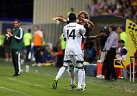 Thursday 29 August 2013<br /> Pictured: (L-R) Roland Lamah, Jose Canas.<br /> Re: Petrolul Ploiesti v Swansea City FC UEFA Europa League, play off round, 2nd leg, Ploiesti, Romania.