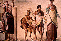 Roman Art:  Fresco--Sacrifice of Ifigenia.  National Museum, Naples.