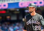 28 August 2016: Colorado Rockies outfielder and Baseball America top prospect David Dahl in action against the Washington Nationals at Nationals Park in Washington, DC. The Rockies defeated the Nationals 5-3 to take the rubber match of their 3-game series. Mandatory Credit: Ed Wolfstein Photo *** RAW (NEF) Image File Available ***