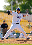 6 March 2006: Joe Beimel, pitcher for the Los Angeles Dodgers, winds up during a Spring Training game against the Washington Nationals. The Nationals and Dodgers played to a scoreless tie at Holeman Stadium, in Vero Beach Florida...Mandatory Photo Credit: Ed Wolfstein..