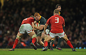 2nd December 2017, Principality Stadium, Cardiff, Wales; Autumn International Rugby Series, Wales versus South Africa; Steven Kitshoff of South Africa is tackled by Alyn Wyn Jones (Captain) of Wales