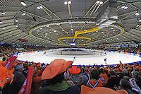 SCHAATSEN: HEERENVEEN: 12-03-2016, IJsstadion Thialf, WC Finale, overzichtzicht, ©foto Martin de Jong