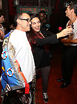 Jonathan Brody and Katrina Yaukey during the Actors' Equity Gypsy Robe Ceremony honoring Jonathan Brody for  'A Bronx Tale'  at The Longacre on December 1, 2016 in New York City.