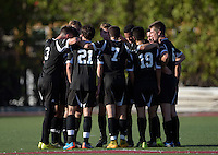 Oct 29, 2014; Orange, CA, USA; Occidental College Tigers huddle against the Chapman College Panthers. Photo by Kirby Lee