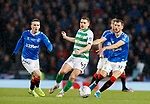 08.11.2019 League Cup Final, Rangers v Celtic: James Forrest with Ryan Kent and Borna Barisic