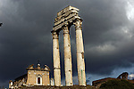 The remains of the Temple of Castor and Pollux in the Roman Forum, Rome, Italy.  Photo by Trevor Collens