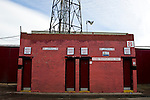 Barnsley 1 Millwall 0, 22/02/2014. Oakwell, Championship. Millwall make the journey from south London to South Yorkshire for a Championship relegation battle with Barnsley. Traditional bricked turnstile entrance for home supporters.  Photo by Simon Gill.