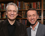 Rick Elice and Andrew Lippa attend the Dramatists Guild Fund Salon With Rick Elice at the Cornell Club on March 6, 2017 in New York City.