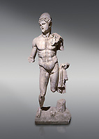 Roman statue of  Dioscuri. Marble. Perge. 2nd century AD. Inv no 2014/175. Antalya Archaeology Museum; Turkey.