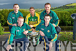 HURLERS: Kerry hurlers who launched the KLerry Hurlers Fashion Show in Ballyroe Heights Hotel, Tralee on Monday evening the Fashion Show will be held in the Hotel on 27th August 2011. L-r: Eamon Fitzgerald and James Godley. Back l-r: John Egan, Adrian Ryle and Gary O'Brien...